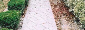 Terrill Concrete stamped sidewalk