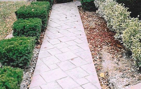 Terrill Concrete stamped sidewalk